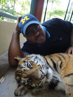 Vic with Tiger
