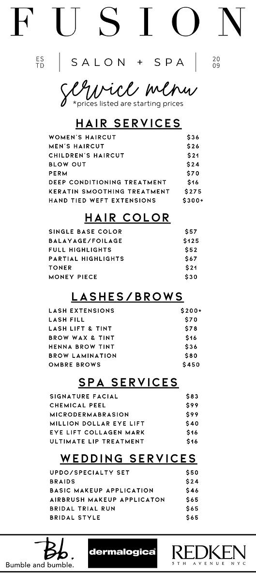 service menu 1