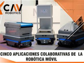 Cinco aplicaciones colaborativas de robótica móvil
