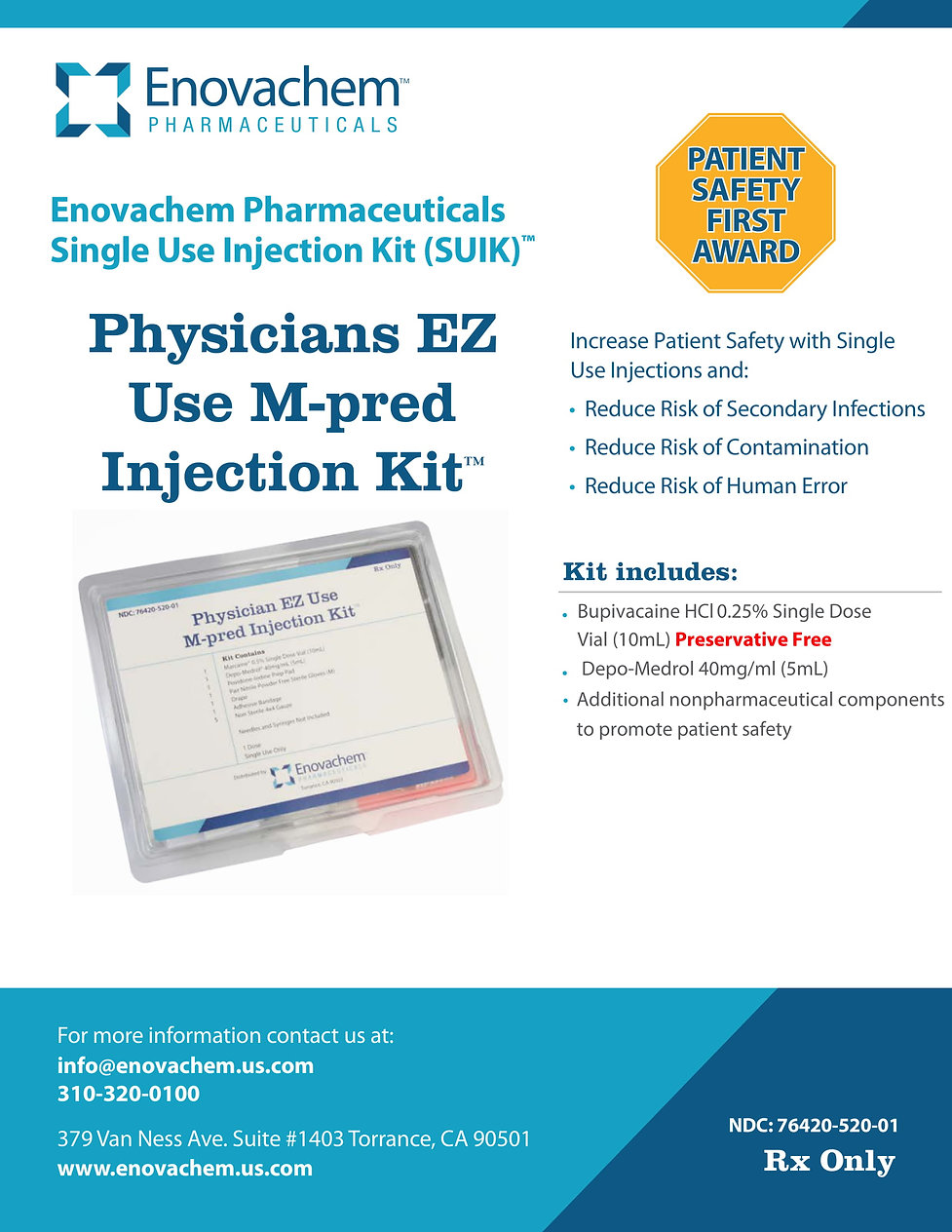 Physicians EZ Use M-pred Injection Kit
