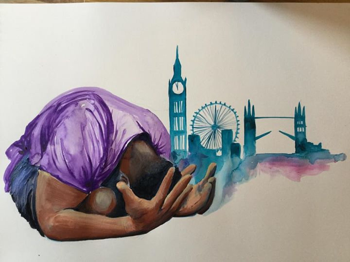 Pray for London print