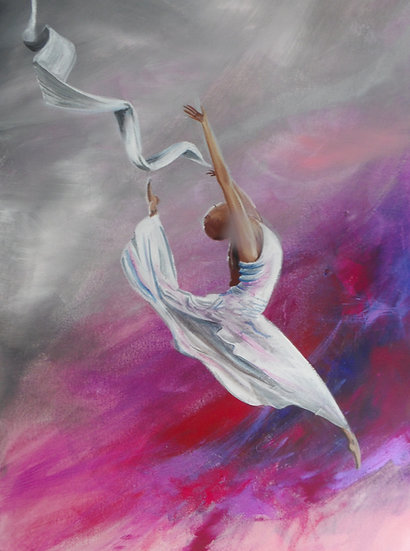Dancer in the storm print