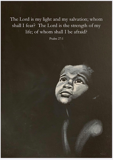 Psalm 27 with words print