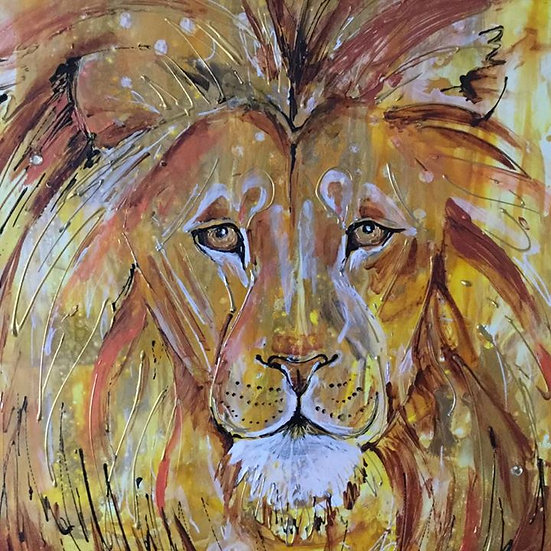 The Golden Lion print