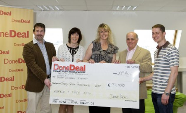 April's Charity Total was €37,950!