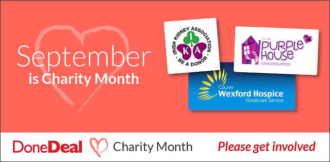 September is DoneDeal Charity Month