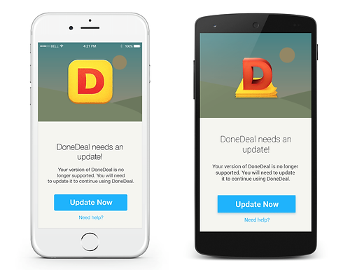 Does your DoneDeal app need an Update?
