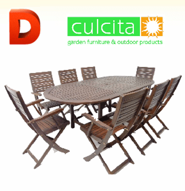 Exclusive 8 seater Garden Dining Set WINNER!
