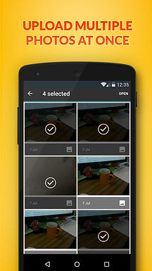 Upload multiple photos on our Android app