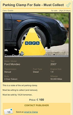 Parking Clamp for Sale!