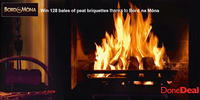 Win a Winter's supply of Bord na Móna peat briquettes, worth over €500!