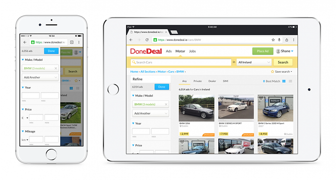 Search by multiple car makes & models