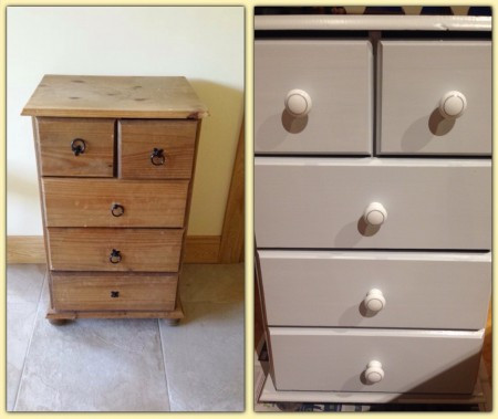 Eggshell painted drawers