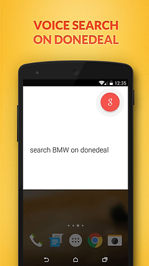 Ok Google, search on DoneDeal