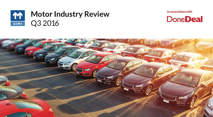 Motor Industry Review – Q3 2016