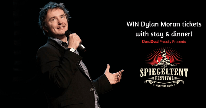 Win tickets to Dylan Moran at Wexford Spiegeltent Festival!