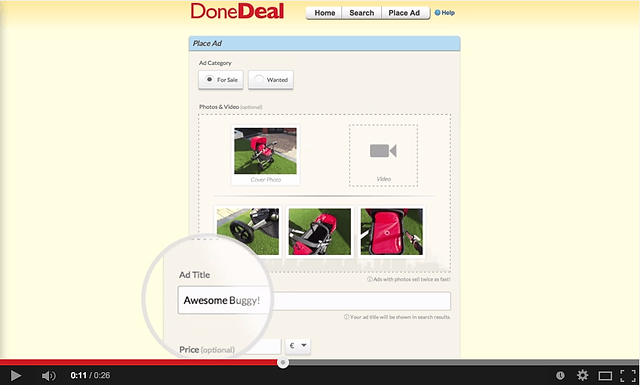 It's now EVEN FASTER to place your ad on DoneDeal!