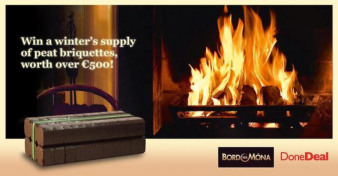 *Closed* Win a winter's supply of Bord na Móna peat briquettes!