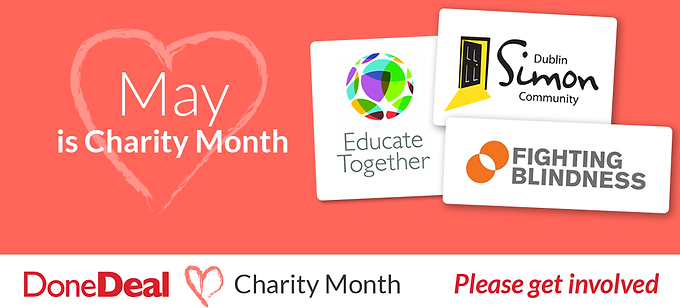 May is DoneDeal Charity Month