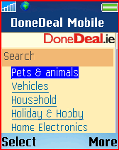 DoneDeal on the Mobile
