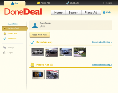 """Introducing the new look """"My DoneDeal"""""""