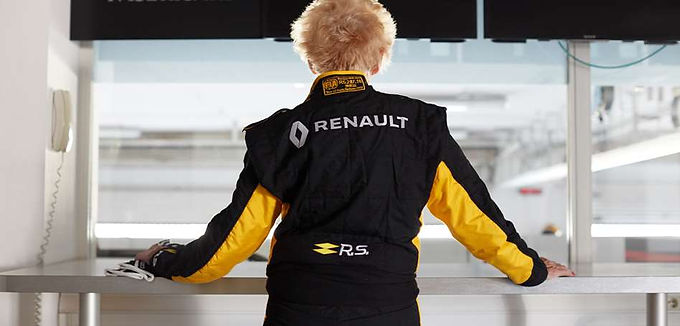 You're never too old to drive a Formula One team car!