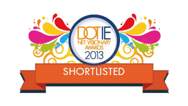 Shortlisted for 2013 IIA Dot IE NetVisionary Awards