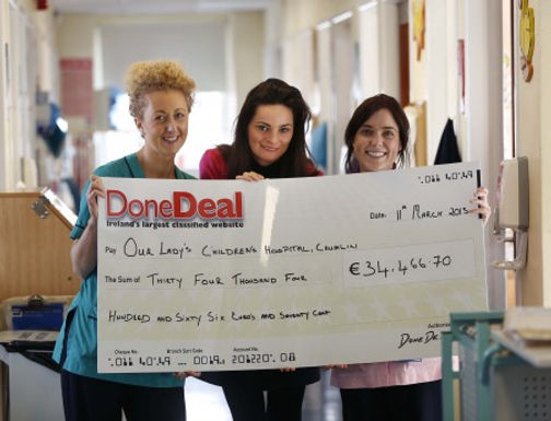 €34,466.70 for Our Lady's Children's Hospital, Crumlin