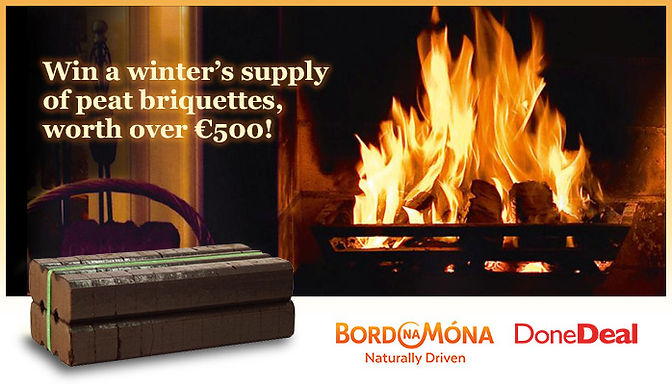 *Closed* Win a winter supply of peat briquettes worth over €500!
