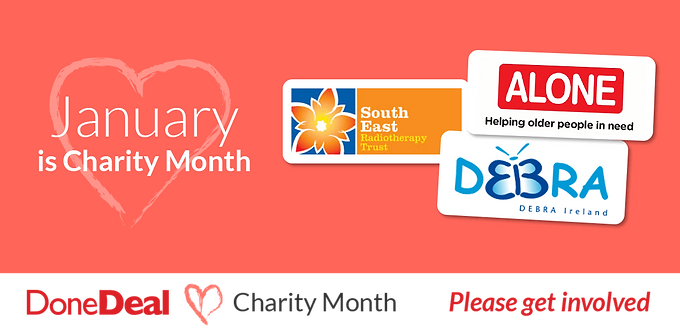January 2016 – 1st DoneDeal Charity Month of the year!