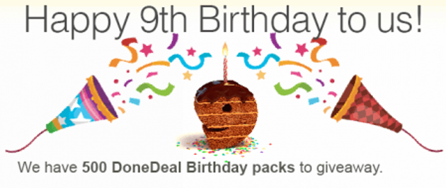 DoneDeal's 9th Birthday Giveaway!
