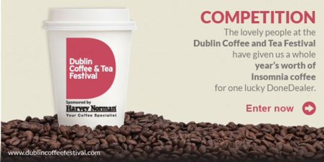 Win a year's supply of coffee courtesy of the Dublin Coffee & Tea Festival