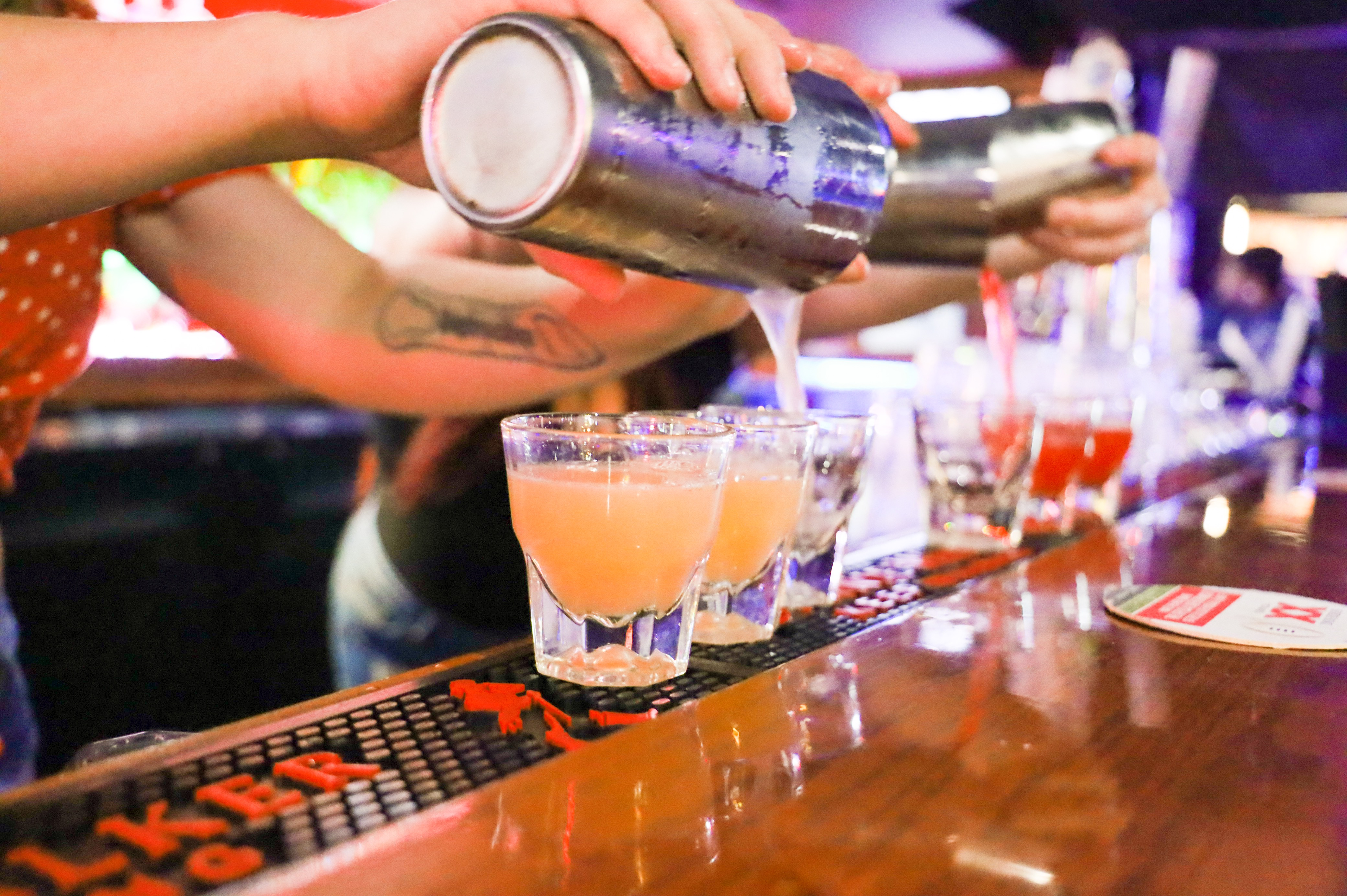SHOTS ARE A MUST DO AT TRT