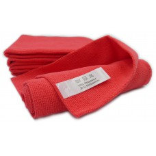 P1 Professional Tricot Microfibre Cloth Red Lasercut
