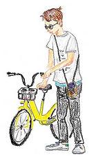 イラスト-自転車