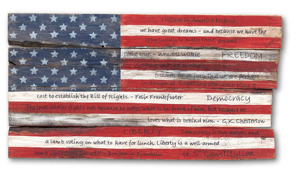 American Flag #25 - Various Quotes