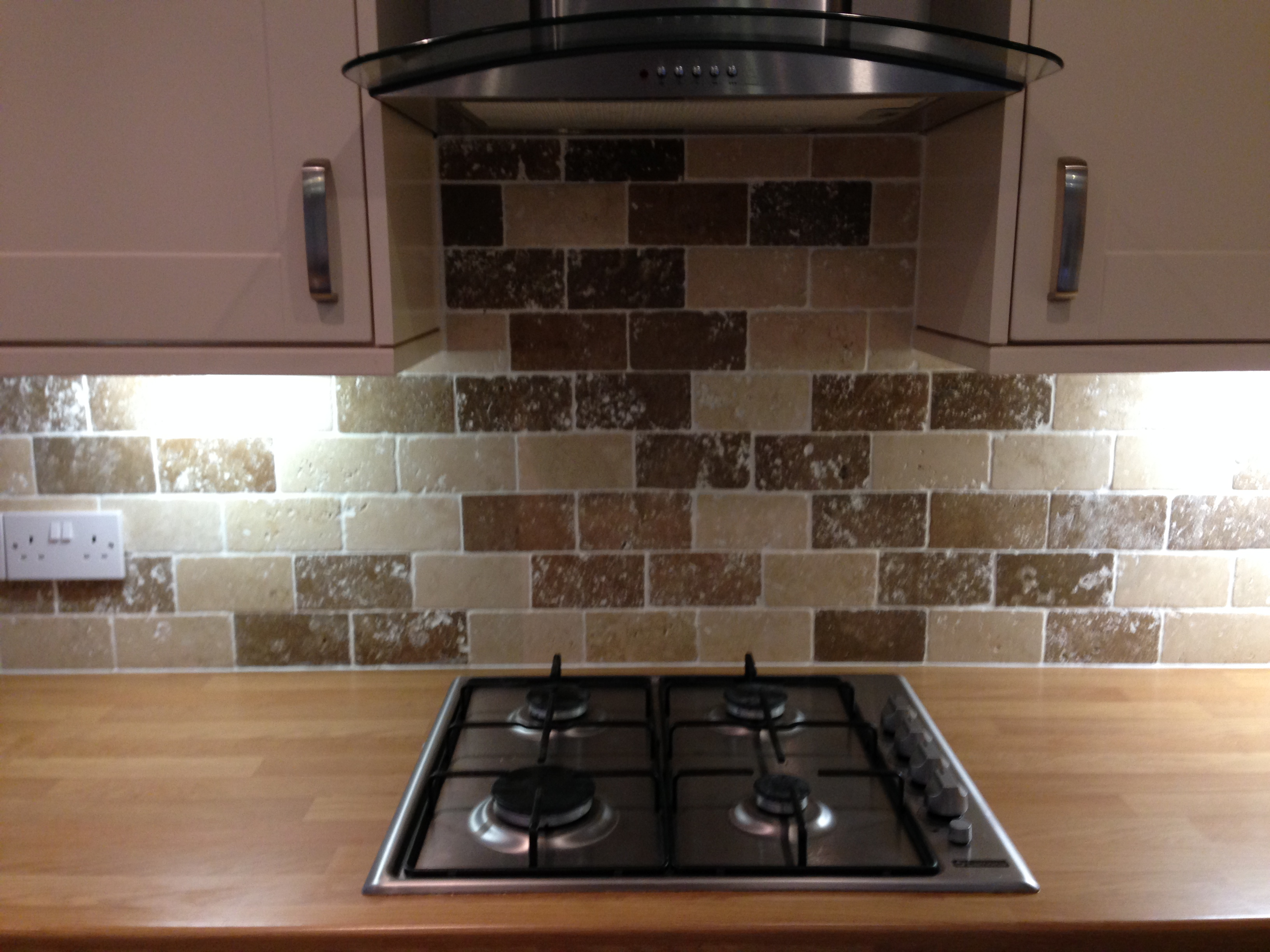 Example of new kitchen and tiling
