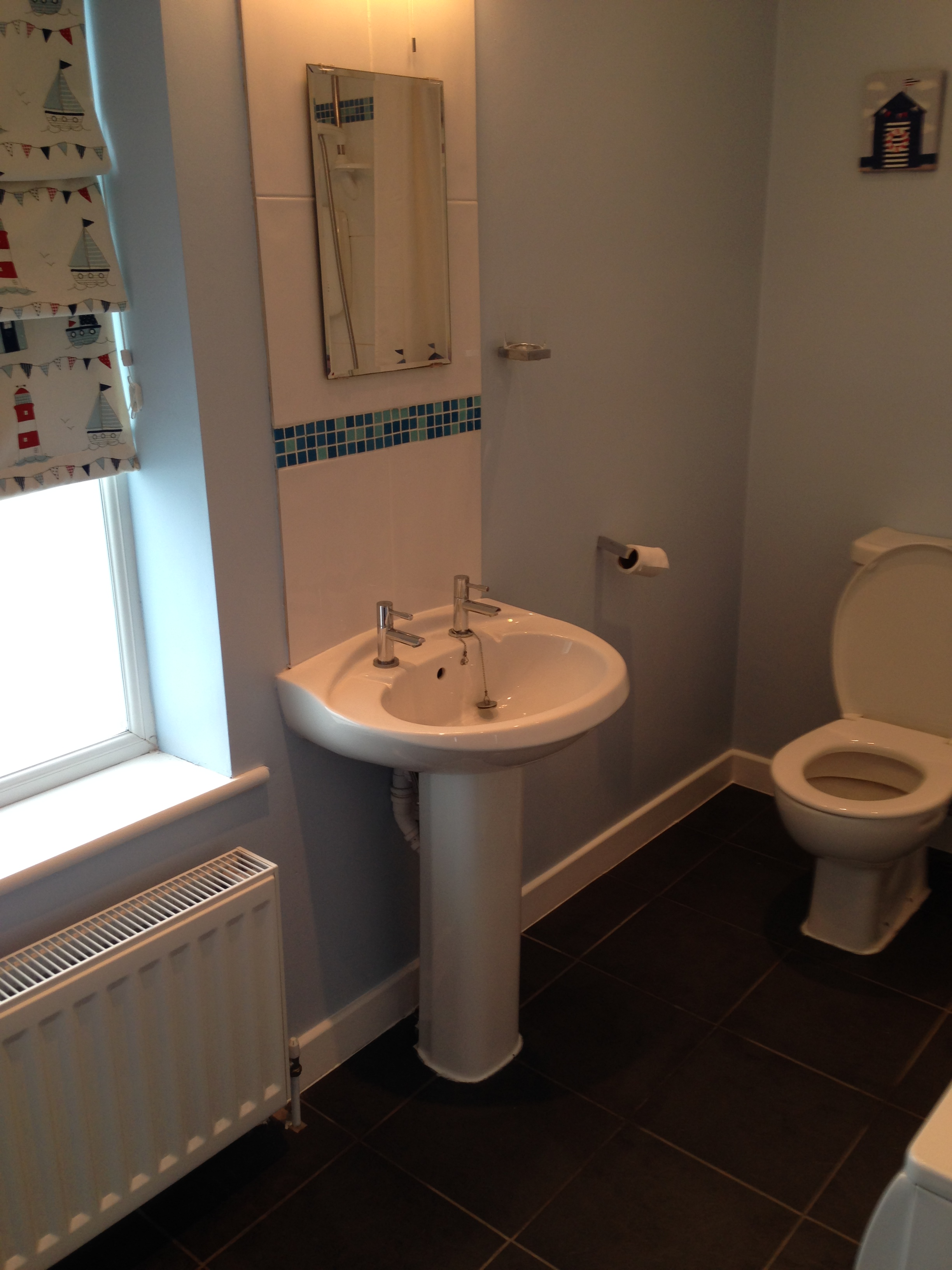 Completed bathroom installation