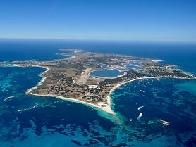 Rottnest island picture taken from a pla