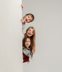 banner-with-surprised-children-peeking-e