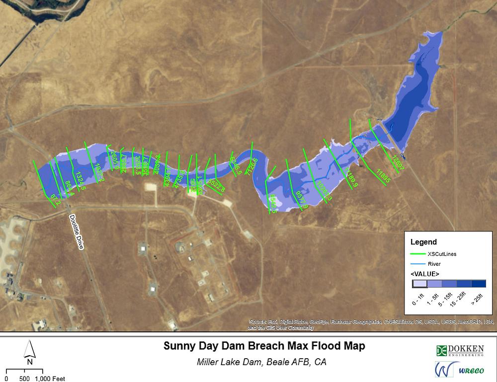 Sunny Day Dam Breach Max Flood Map