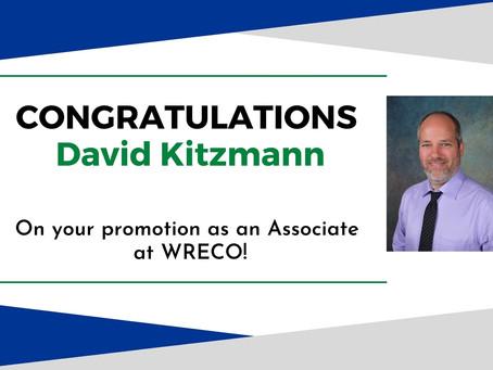 WRECO Promotes David Kitzmann, P.E., P.G., CEG to Associate!