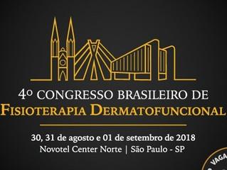Jett Plasma no 4° Congresso Brasileiro de Fisioterapia Dermatofuncional - 30/08 a 01/09