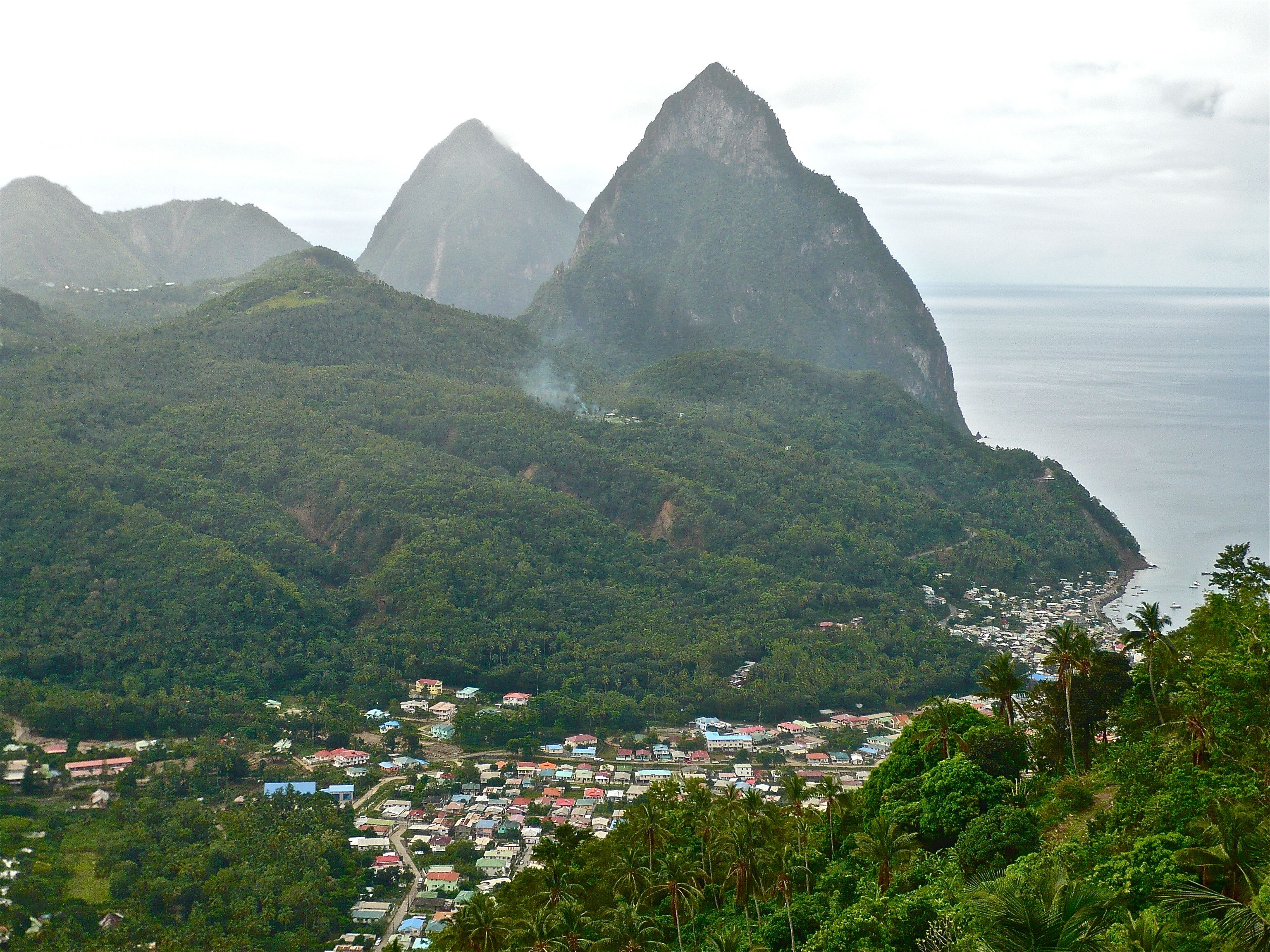 Admire the spectacular Pitons