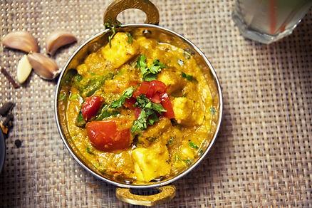 Spécialité indienne, Thali fromage au restaurant 5 Fourchettes de Bangui, Centrafrique