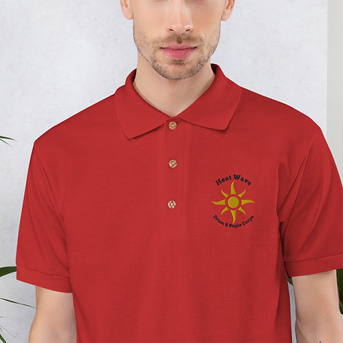 Embroidered Polo Shirt - Red