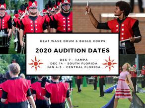 2020 Audition dates