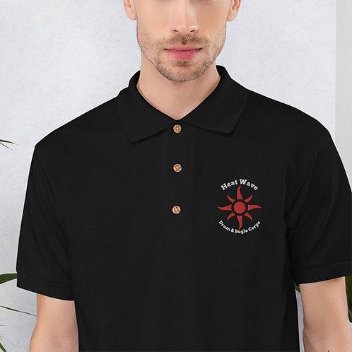 Embroidered Polo Shirt - Black