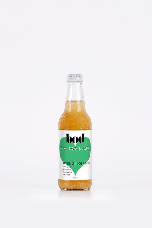 Kombucha - Apple Ginger Lime (case of 12 x 330 mL)