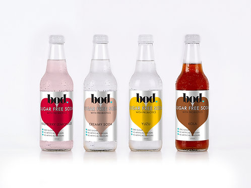 Sugar Free Probiotic Soda - Mixed Dozen (3 of each flavour)